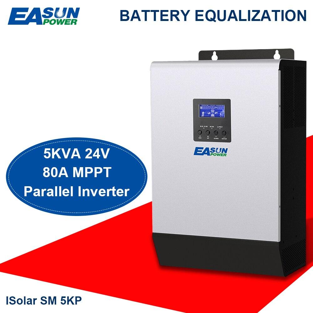 EASUN POWER 24 V inversor Solar 4000 W 5Kva 80A MPPT inversor paralelo 220 V onda sinusoidal pura inversor cargador 60A cargador de batería