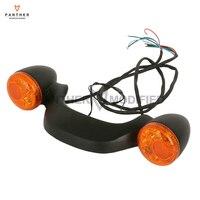 Black Motorcycle LED Rear Brake Light Turn Signal Lights Bar W/ Orange Lens Case for Harley Touring Street Road Glide 2010 2016