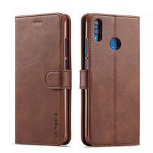Cases For Huawei Honor 8X Phone Case Cover Luxury Anti-fall Plain Vintage Magnetic Flip Wallet Leather Bags For Honor 8 X Coque(China)
