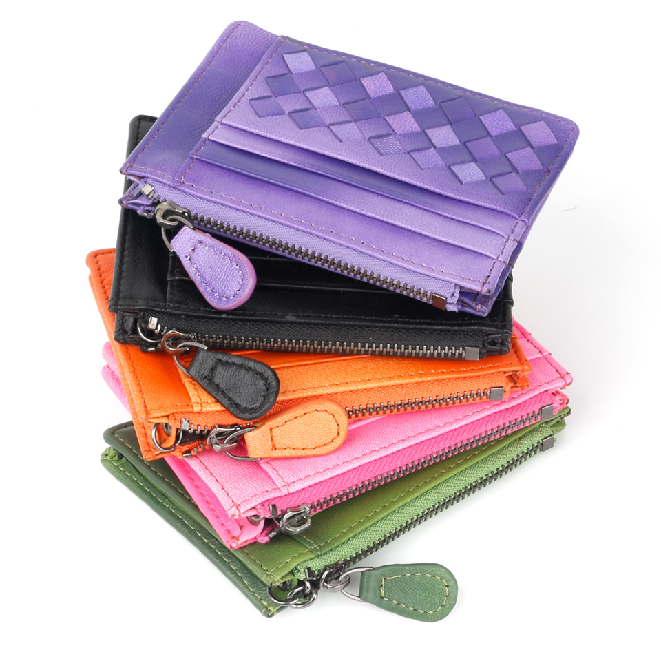 Fashion Slim leather multi-card-bit pack bag men Creadit Card Holder cardholder leather sheepskin package bus card holder
