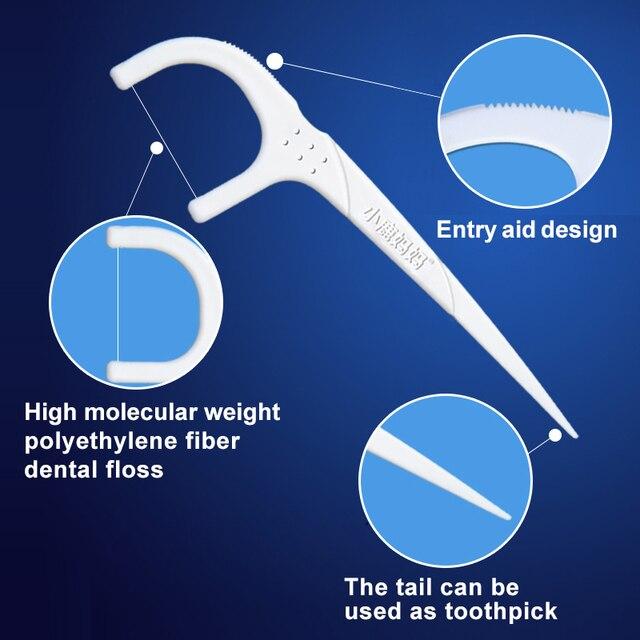 50pcs/Set High Quality Dental Floss Teeth Stick Tooth Picks Interdental Brush White/Black Teeth Clean Toothpick Flosser With Box