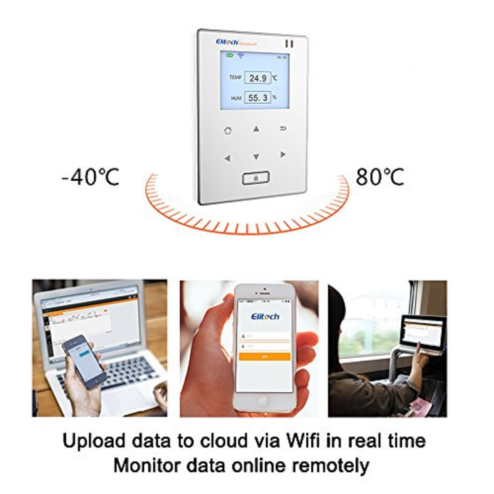 Image 5 - Elitech Temperature and Humidity Wifi Data Logger,Temp and Humidity Wireless Remote Thermometer Recorder for Refrigerator-in Temperature Instruments from Tools