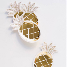 1 set Rose gold pineapple Disposable Paper plates for birthday party wedding decoration fruit Tableware Supplies линн грэхем jis neplanavo meilės