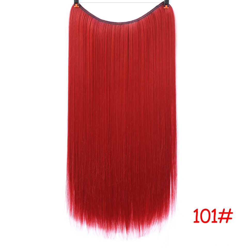 """SHANGKE 2"""" флип-на проволоке в синтетическом скрытом невидимом не клип в головном повязке прямые высокотемпературные волокна для наращивания волос - Цвет: #6"""