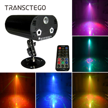 36 Patterns Led Laser Projector Disco Light DJ RGB 3 Lens Mini LED Strobe Sound Activated Stage Lamp Indoor Lumiere Party Lights