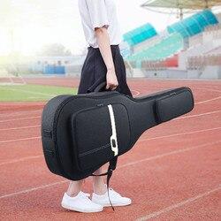 Новый 41 дюймов народная гитара сумка для переноски Чехол водостойкий противоударный утолщенный народная Акустическая гитара сумки рюкзак...