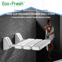 Ecofresh Wall Mounted Shower Seat bathroom shower folding seat folding beach Bath shower Stool toilet shower chair(China)