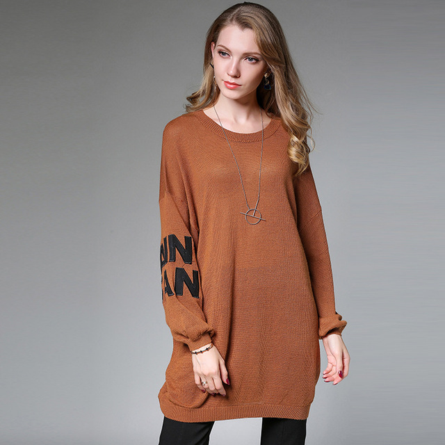 Women Sweater Unif Plus Size Sweaters And Pullovers Korean Winter Cape  Oversized Long sleeve Knitted womens fall fashion Tops d14839111