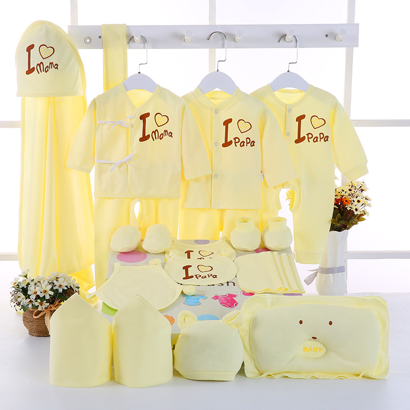 Emotion Moms 22PCS set newborn baby girls clothes cotton 0 6months infants baby girl boys clothing set baby gift set without box in Clothing Sets from Mother Kids