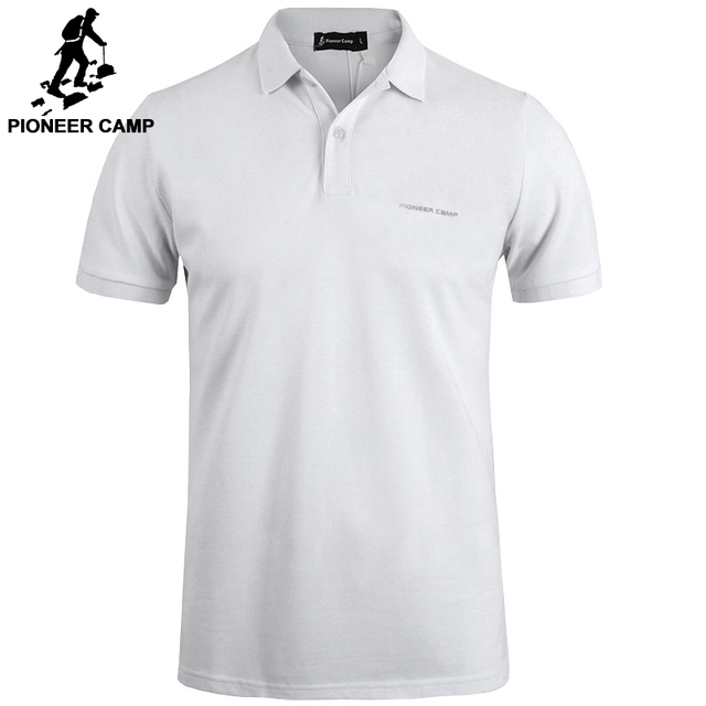 65506759 Pioneer Camp New classic Polo shirt men brand clothing casual solid summer  Polos male quality 100% cotton black white dark bue-in Polo from Men's  Clothing ...