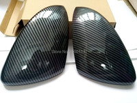 For VW Golf 7 GTI Mk7 2013 2014 2015 2016 2017 Carbon Fiber Pattern Car Door Wing Mirror Covers Rear view Mirror Car Styling