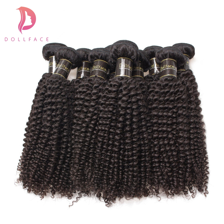 Hair Extensions & Wigs Salon Hair Supply Chain Dollafce Brazilian Virgin Hair Wholesale 10pcs/lot Kinky Curly Human Hair Weave Bundles Unprocessed Hair Extension Free Shipping
