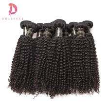 Dollafce Brazilian Virgin Hair Wholesale 10Pcs/Lot Kinky Curly Human Hair Weave Bundles Unprocessed Hair Extension Free Shipping(China)