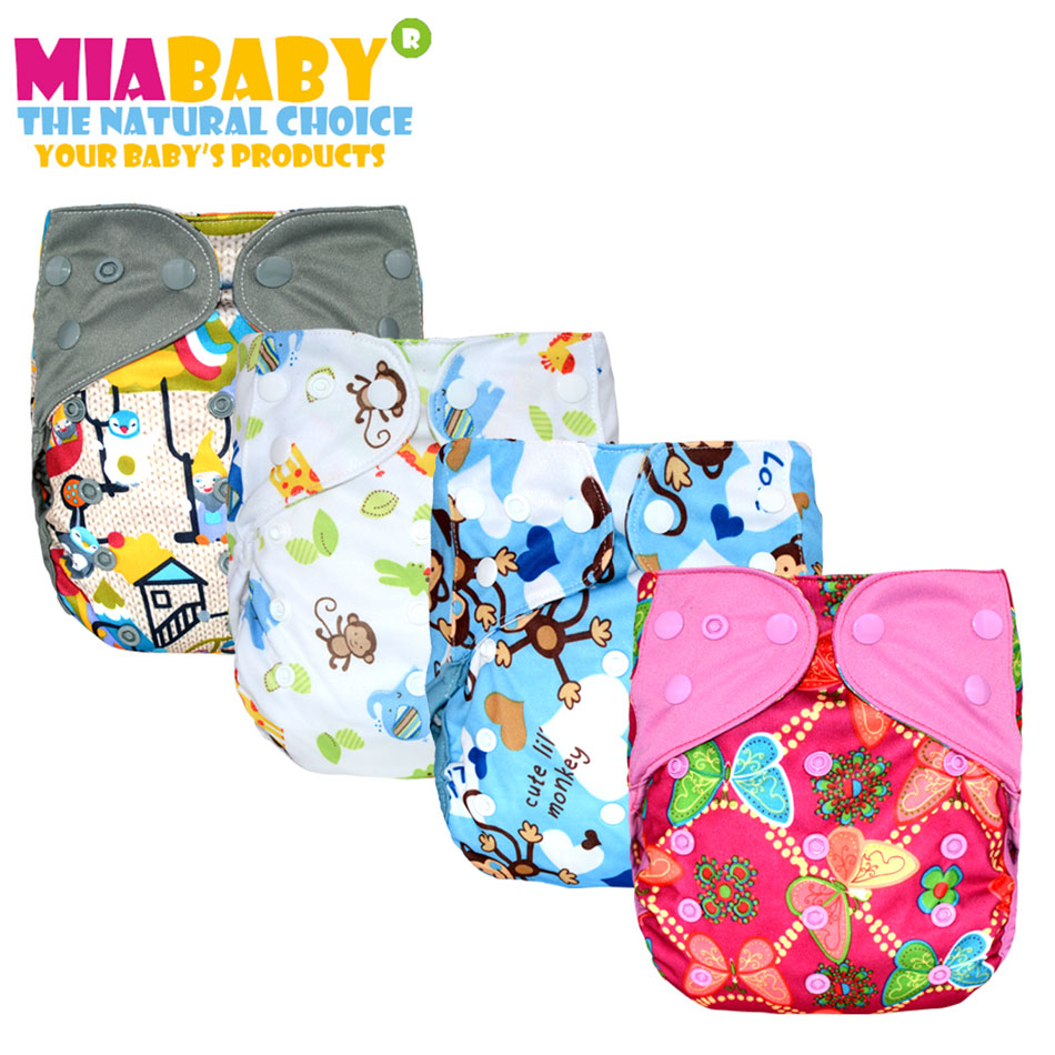 Miababy onesize cloth diaper cover ,reusable, washable,waterproof & breathable,fit 3-15kg