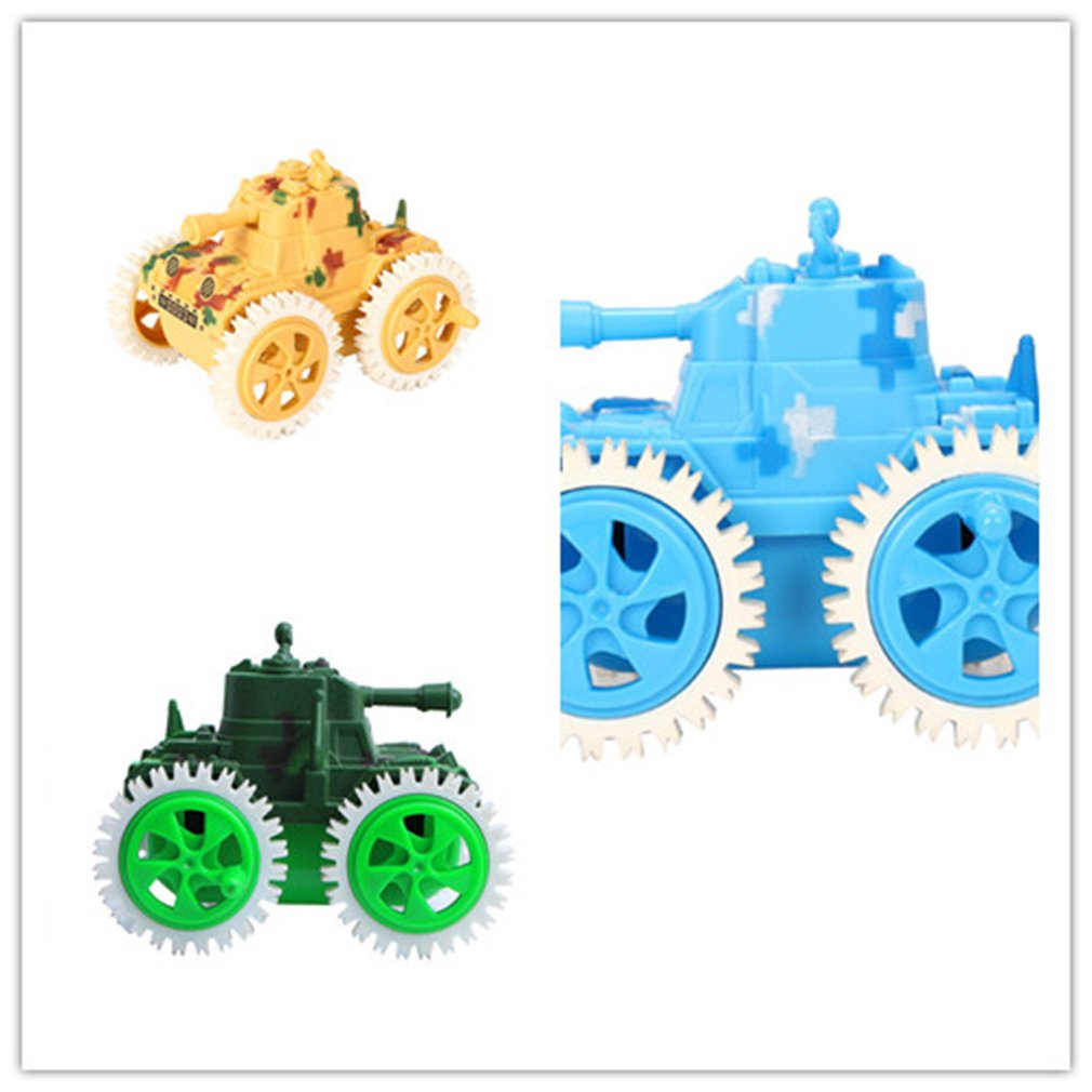 Hot Four Gear Wheel Dump Tank Mini Double Sided RC Rolling Rotating Car Vehicle For Children Kids Creative Toy