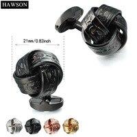 Hawson Mens Jewelry Knot Khuy Măng Sét Gun Plated Vintage Đa Màu Twist Khuy Măng Sét Thay Thế Men Shirt Nút