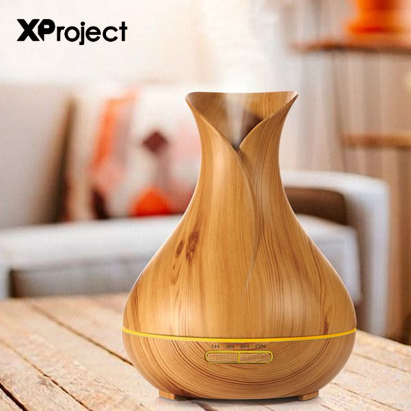400ml Aroma Essential Oil Diffuser Ultrasonic Air Humidifier Wood LED Night light Office ...