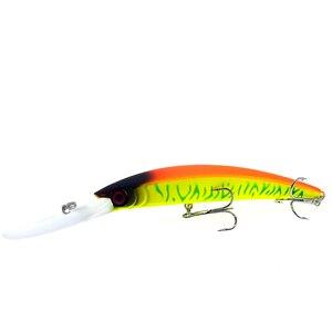 Image 4 - Wldslure 1pc minnow isca de pesca 150mm/16g crankbait artificial duro isca peche bass pike wobbler língua longa minnow
