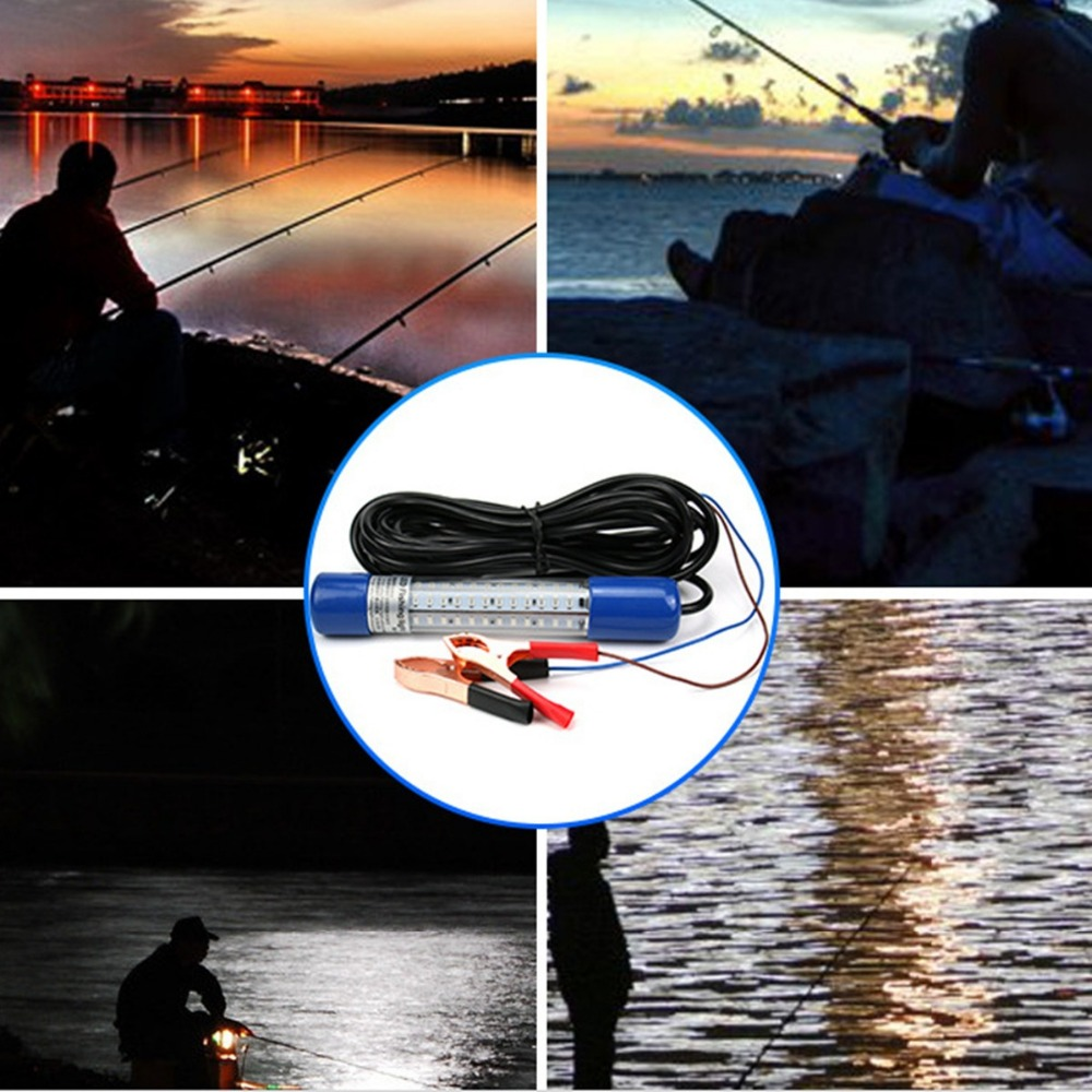 Hot Sale 12V 180 LED 8W Green Underwater Submersible Boat Night Fishing Fish Light Squid 12v led green lure bait finder night fishing boat submersible deep drop underwater lights for crappie bass striper catfish
