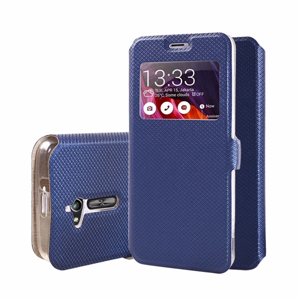 Window Leather Phone <font><b>Case</b></font> For <font><b>Asus</b></font> ZenFone 3Max GO ZB500KL ZB500KG <font><b>ZC520TL</b></font> Soft Silicone TPU Flip Cover For ZenFone Go <font><b>Asus</b></font> 3Max image