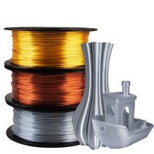 Silk Shiny Copper PLA 3D Printer Filament 1.75mm For Pen 1KG 2.2LBS Spool Widely Compatible Printing Metal Feeling