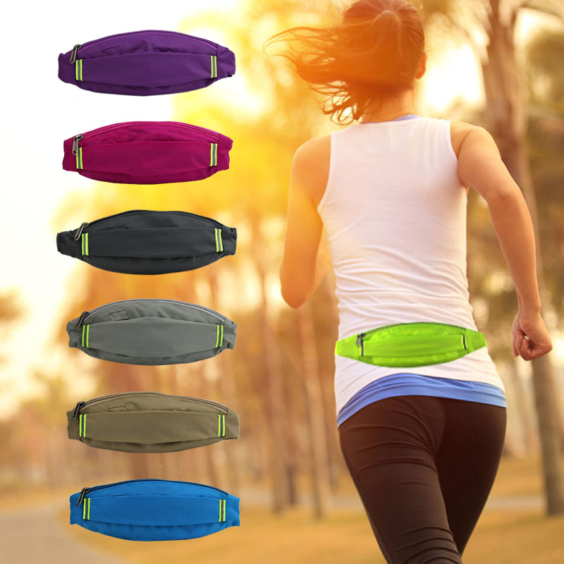 Running Waist Bag Waterproof 6 Inch Mobile Phone Holder Jogging Belt Bag Women Gym Fitness Bag Lady Outdoor  Sport Accessories