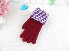 GLV916 Women winter cashmere wool font b gloves b font fingers warm font b gloves b