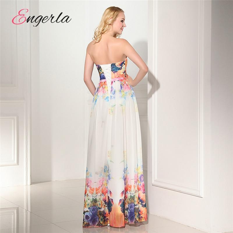 f0001b76ee Engerla Floral Print Pattern Bridesmaid Dresses For Beach Wedding A ...