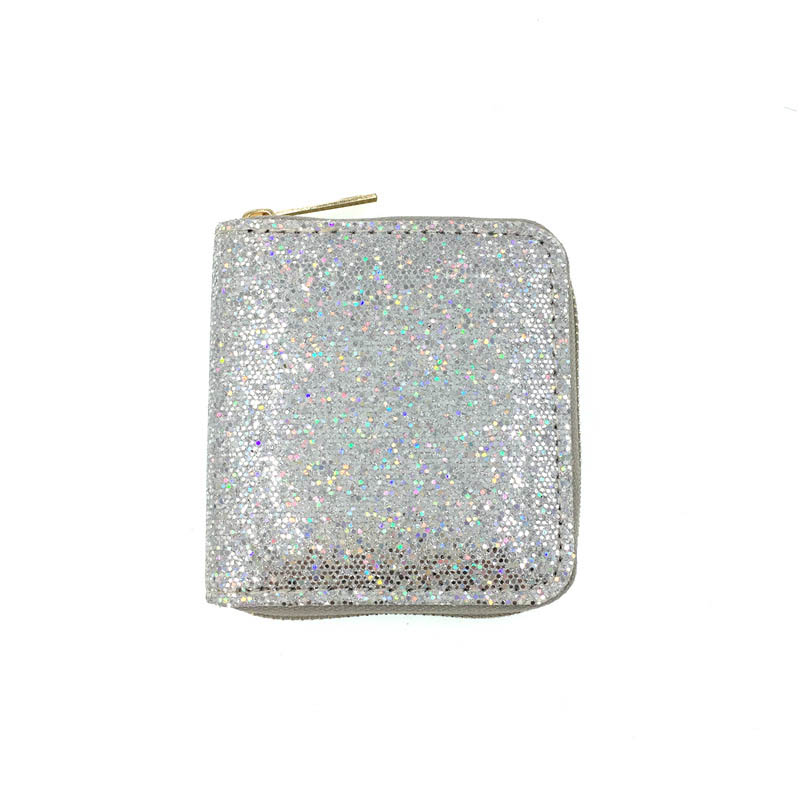 KANDRA New Women's Wallet Small Gold Glitter Short Wallet Women Sequined Bank Credit Card Bolder Woman's Gift Wholesale