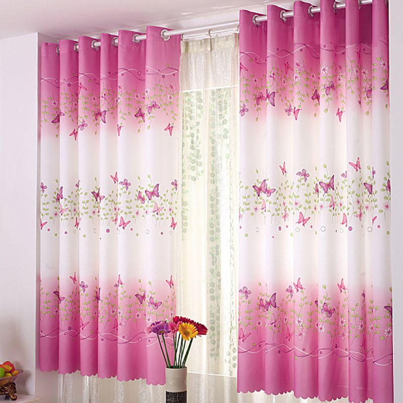Curtain Floral Panel Curtain For Bedroom Balcony Room Divider Modern Home Decor 200cm x 95cm