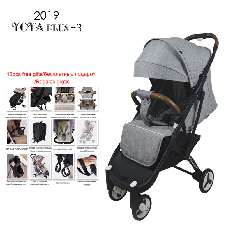 Bebé yoya yoyaplus ligero cochecito de bebé portátil plegable Carro de bebé Carro de verano y de invierno marco negro