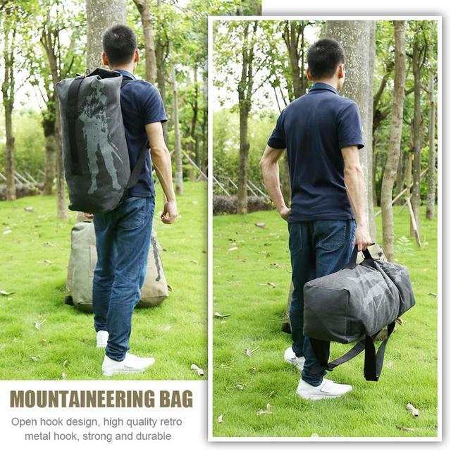 Canvas Backpack Sports Bicycle Bag Rucksack for Outdoor Hiking Climbing Bag Men Women Travel Bags Sport Outdoor Bags