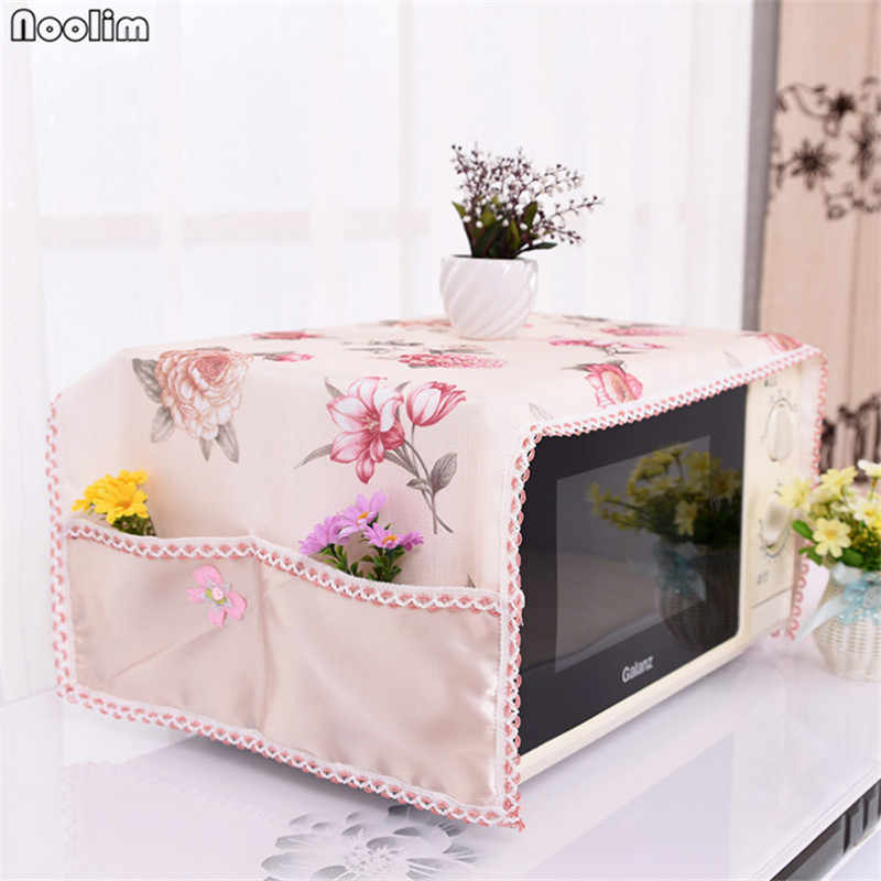 NOOLIM Microwave Oven Cover Set with 2 Pouch Dust Covers Dustproof Polyester Roaster Cover Bag Home Kitchen Accessories