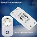Sonoff Diy Inteligente Interruptor do Temporizador Wi-fi + Itead Casa Inteligente Controle Remoto Sem Fio Wi-fi Tomada Inteligente S20 Para Automação Residencial