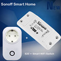 Sonoff Smart Home Intelligent Diy Timer Wifi Switch + Itead Wifi Smart Socket S20 Wireless Remote Control For Home Automation