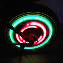 New Bycicle Light with Battery Bicycle Light 7 Colors Spoke Lights Safety bike lights Bicycle Accessories
