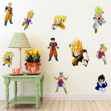 Removable DIY 3d dragon ball wall stickers for children