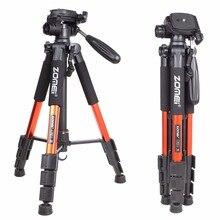 ZOMEI Q111 מקצועי נייד נסיעות אלומיניום מצלמה חצובה פאן ראש עבור SLR DSLR מצלמה דיגיטלית שלוש צבע