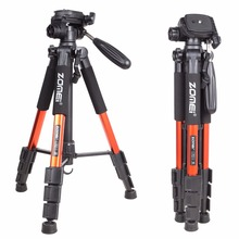 Zomei q111 slr dslr 디지털 카메라 용 전문 휴대용 여행 알루미늄 카메라 삼각대 및 팬 헤드 3 색