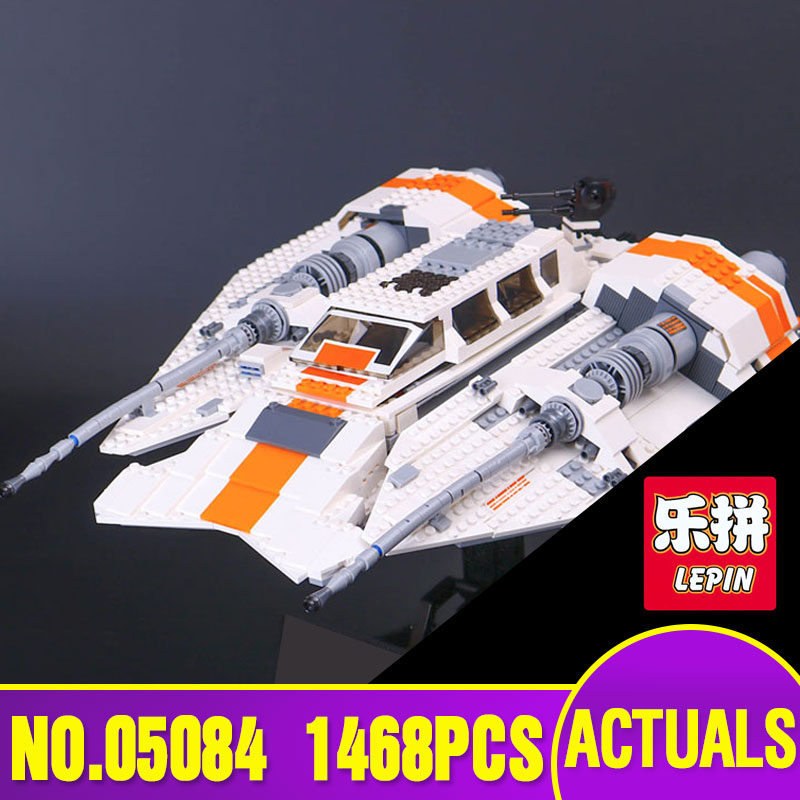 Lepin 05084  Star 1468Pcs New War Series The Snowspeeder Set Children Educational Building Blocks Bricks Toys Model 10129 star space war series the rebel snowspeeder set educational building blocks bricks boy toys model gifts compatible lepins 10129