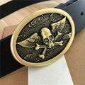 Mens Belts Luxury Skull Buckle Genuine Leather Designer Belts Men Belt Ceinture Homme Cinturones Mujer Cowboy Jeans Belt MBT0413