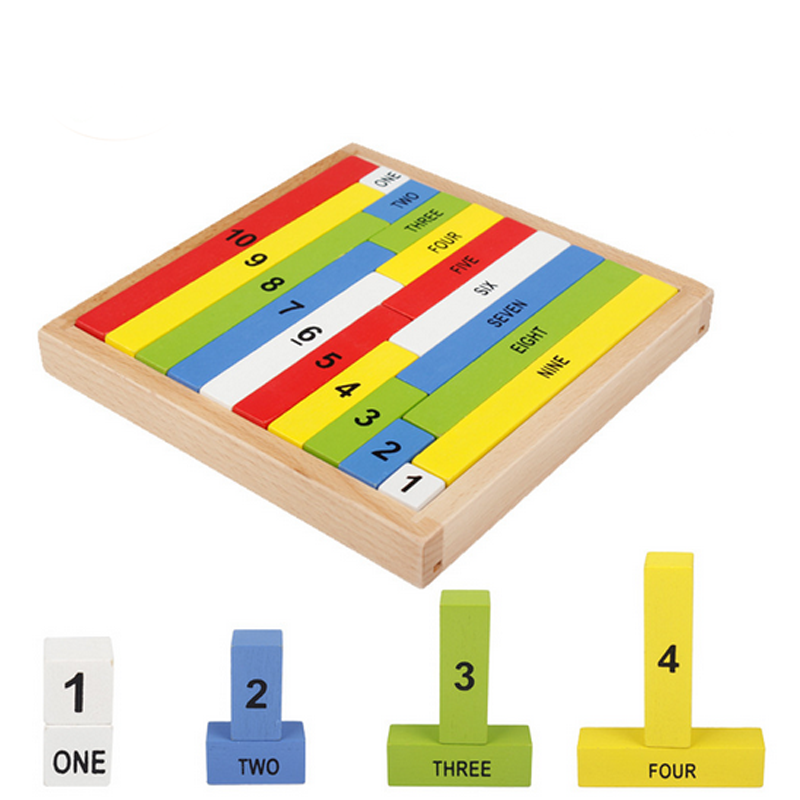 beb de colores nmero de palos de madera bloques de construccin para nios juguetes para nios