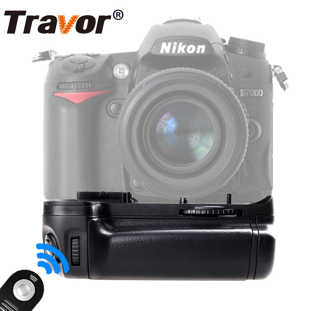 Travor Battery Grip for Nikon D7000 DSLR Camera as MB-D11 +2pcs battery holder+Universal remote control