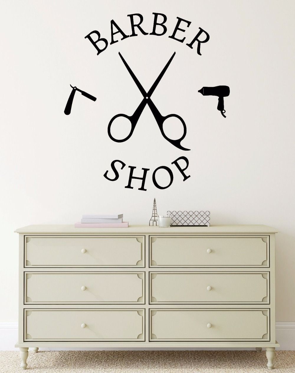 Hair Salon Vinyl Wall Decal Barber Shop Salon Hair Stylist Tools - Custom vinyl wall decals for hair salonvinyl wall decal hair salon stylist hairdresser barber shop