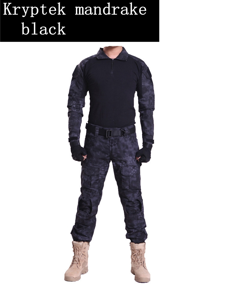 Men Army Military Equipment Airsoft Paintball Shooting Pants Combat Gen2 Tactical Pants Shirts with Knee Elbow Pads