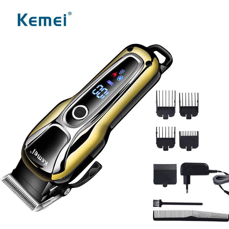 110v-240v rechargeable hair clipper professional hair trimmer razor for men electric cutter hair cutting machine EU plug professional electric washable hair trimer trimmer rechargeable hair clipper razor cutter hair cutting machine for men kid adult