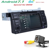 Free Shipping Quad Core Car DVD Player Stereo Android 7 1 GPS Navigation Bluetooth Free Camera