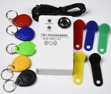 1 pcs/lot TM Ibutton carte duplicateur portable DS1990 RW1990 et 125khz EM4305 T5577 et copieur rfid compatible