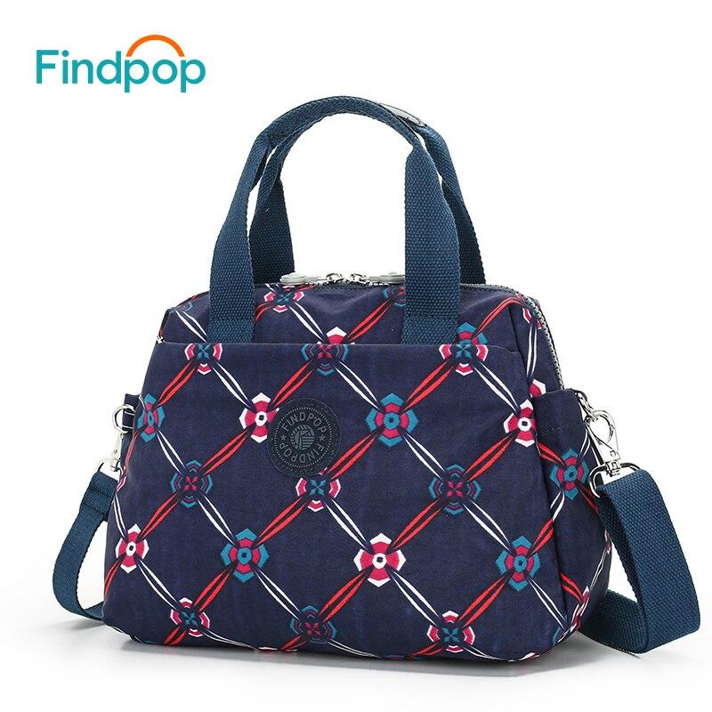 Findpop新しいヴィンテージプリントショルダーバッグ防水キャンバス花用バッグクロスボディ女性2018デザイナーカジュアルショルダーバッグ  グループ上の スーツケース & バッグ からの ショッピングバッグ の中 1