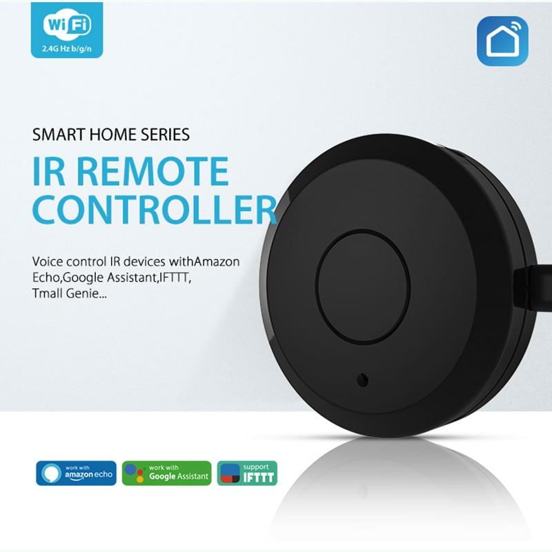 NEO COOLCAM NAS-IR03W control remoto inteligente TV electrodomésticos WIFI + IR interruptor 360 grados inteligente para aire acondicionado hogar inteligente NEO COOLCAM Z-wave Plus a casa una clave SOS y de Control remoto inteligente Sensor de automatización de Sensor